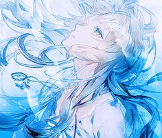 Find images and videos about girl, art and blue on We Heart It - the app to get lost in what you love. Character Art, Illustration, Anime Fanart, Cute Art, Blue Anime, Anime Scenery, Art, Anime Drawings, Aesthetic Anime