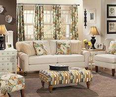A living room decorated in a country theme can be warm and inviting. Description…
