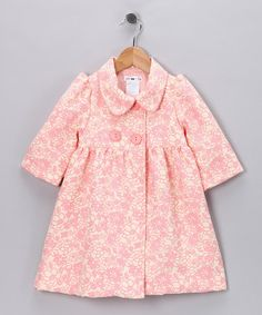 Precious Pink Floral Joanne Coat - Toddler & Girls by Joe-Ella on #zulily