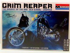 Monogram Grim Reaper Chopper Plastic Model Kit off! Motorcycle Model Kits, Chopper Motorcycle, Motorcycle Art, Plastic Model Kits, Plastic Models, Old School Chopper, The Grim, Grim Reaper, Car Detailing
