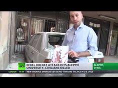 Rebel rocket attack hits Aleppo University, civilians killed & injured