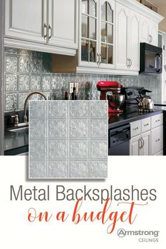 Are you looking for metal backsplash ideas for your kitchen or bathroom? It's easy to DIY a beautiful new metal backsplash, even behind your stove! Just check out this handy guide to getting a DIY metal backsplash on a budget.