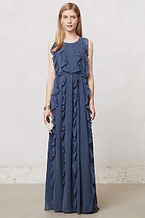 Anthropologie - Ruffle Stream Maxi Dress