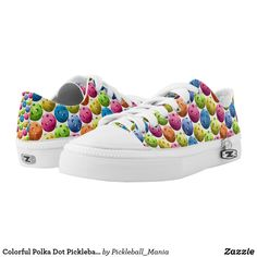 Colorful Polka Dot Pickleball Low-Top Sneakers