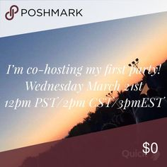MY FIRST POSHMARK PARTY! I've been chosen to help co-host my first Poshmark party on Wednesday March 21st at 12pm PST/1 pm MST/2 pm CST/3pm EST! The theme is Best in Jeans so be ready for your items to be shared or chosen as host picks!! Jeans