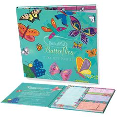 "GREAT HOLIDAY GIFT IDEA UNDER $20 Butterflies Sticky Note Portfolio By Hiro, Megan, Dwayne, Sasha, Hunter, Ashlie, Aylin, April, Jameisha, Nicole, Carrington, Joseph, Zoe, Kierra Price : $18.00  7"" x 7"" Set of 8 sticky note pads, 50 sheets each (various sizes)"