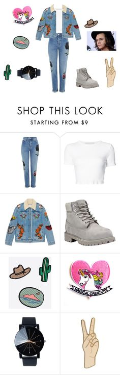 """""""Harry Styles  inspiration  jacket"""" by enmaandrea-1 on Polyvore featuring Topshop, Rosetta Getty, Gucci, Timberland, Madewell y Lucky Brand"""