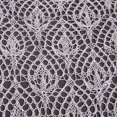 """This is variation on one of the most famous and beautiful motifs for Haapsalu shawls """"Waterlily"""". The pattern is designed for knitting of lace shawls."""