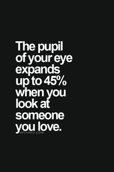 The pupil expands..