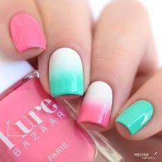 Petit gradient nails avec Caicos et Melrose de @kurebazaar  venant de la @pshiiitboutique . #nailart #kurebazaar #naildesign #nails2inspire #nailpolish #pshiiitboutique #melynenailart #caicos #melrose by melynenailart