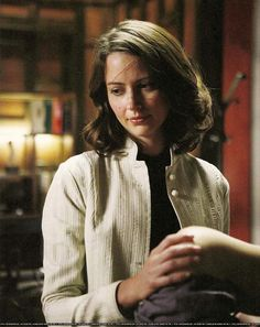 Amy Acker as Dr. Claire Saunders & retired Sierra on Dollhouse