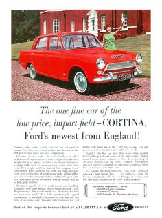 An American Ford Consul Cortina ad from 1963.