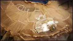 Rockabilly Vintage Style Vintage Lace Trailer Denim Petticoat , Crinoline Skirt/ TuTu
