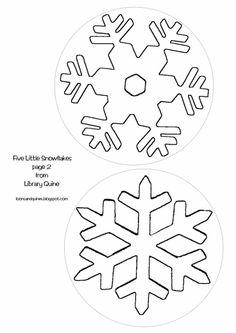 Printable Snowflake Template  Snowflake Template For Children