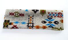 Mojave Tribal Knit Native Head Wrap/ Headband Native