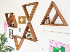 SET OF 3 Reclaimed Wood Triangle Shelf Wood by CaisleyCo on Etsy
