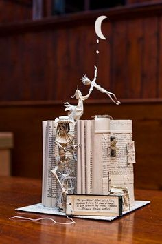 Book Sculptures...by Edinburgh's secret sculptor.