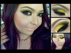 Look: Bumble Bee (An intense yellow smokey eyes with coral lips)