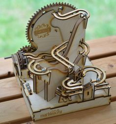 The Marbleocity Marble Machine Is Made Of Pure Wooden Goodness