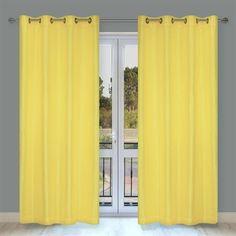 LJ Home Fashions Faux Silk 88-in Silkana 2-Piece Grommet Curtains