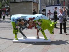 Pigs on a cow, Manchester Cow Parade, 2004 ~ Tony Marlow