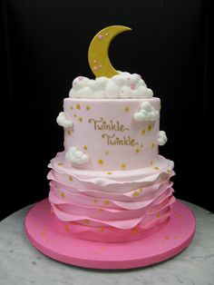 Twinkle Twinkle Little Star  Baby girl cake                                                                                                                                                                                 More