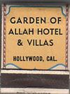 Original Garden of Allah - Sovenir Match Book Hollywood Hotel, Golden Age Of Hollywood, Old Hollywood, Garden Of Allah, Interesting Blogs, Vintage Travel Posters, World Traveler, Things To Sell, The Originals