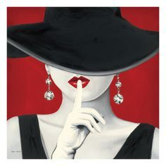 83 Images Formidables De Femme Chapeau Rouge Acrylic Art Abstract