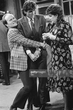 LIFE -- 'The Reunion' Episode 17 -- Aired -- Pictured: (l-r) Mike Pniewski as Warren 'Crusher' Pulaski, George Clooney as George Burnett, Nancy McKeon as Joanna 'Jo' Marie Polniaczek Bonner -- Photo by: NBCU Photo Bank