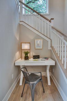 Banister- Wall color is Pale Oak Benjamin Moore