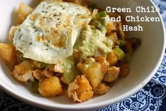 Bake at 350 goes savory: Green Chile & Chicken Hash