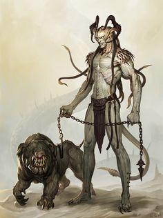 un demonio y su mascota... Más
