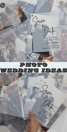 2020 photo wedding invitation ideas #wedding#weddinginvitations#stylishwedd#stylishweddinvitations #vellumweddinginvitations