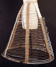 Cage crinoline, American or European, mid 19th century. The Met, accession nr. C.I.41.110.317