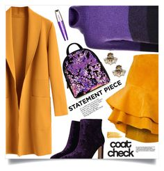"""""""Go Bold: Statement Coats"""" by mahafromkailash ❤ liked on Polyvore featuring BOSS Orange, Siobhan Molloy, L'Oréal Paris and Yves Saint Laurent"""