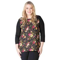 PRE-ORDER - Mixed media panel tops (VINTAGE FLORAL) $59.95 http://www.curvyclothing.com.au/index.php?route=product/product&path=95_104&product_id=6821