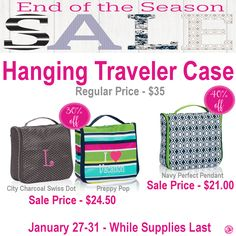 Thirty-One Hanging Traveler Case is on sale during End of the Season Sale