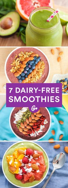 They're basically like slurping a milkshake that happens to be packed with nutrients. #dairyfree #smoothies http://greatist.com/eat/dairy-free-smoothie-recipes