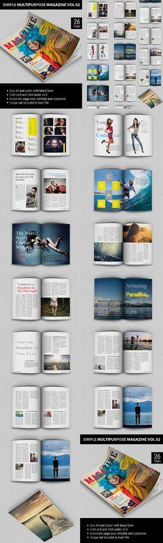 FREE InDesign PRO Magazine Template: Kalonice | GRAPHIC DESIGN IDEAS ...