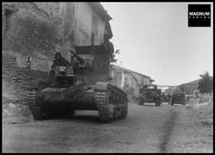 Tank and other military vehicles, Battle of Brunete, Spain, July 1937//Gerda Taro