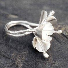 Snow flowers Ring