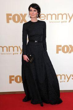 Lena Headey at the 2011 Emmy Awards.