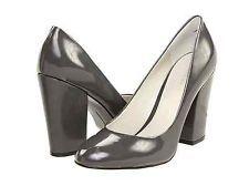 5929be54e0 NINE WEST Limoscene GREY Pumps Dress Shoes Heels Patent Leather Womens New  NIB