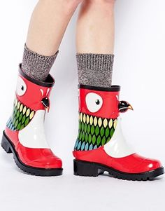 5f4d4072f69f Image 4 of Kigu X Juju Parrot Novelty Wellington Boots Slipper Socks