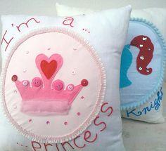 Princess Pillow Knight Pillow by CaroHandMade on Etsy