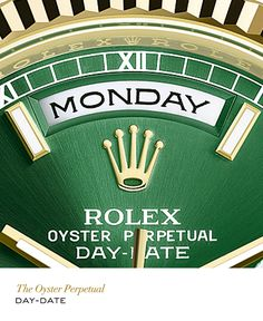 Rolex Day-Date in yellow gold. #RolexOfficial