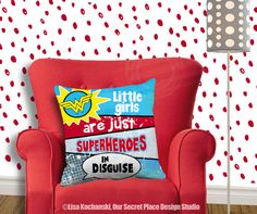 Little Girls Are Just Superheroes in Disguise Superhero Throw
