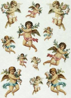 Ricepaper/ Decoupage paper, Scrapbooking Sheets /Craft Paper Vintage Putto