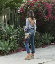 aimee_song_of_style_backless_button_down_shirt_tularosa_jeans_chloe_wedge_sandals_chloe_jane_bag