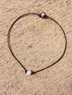 50c6f34b7a4 Leather Pearl Necklace